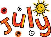 Fotografie Textové doodle pro měsíc červenec