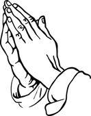 Menschliche Hände im Gebet
