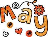 Textové doodle pro měsíc květen