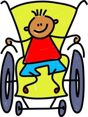 Handicapped little boy.
