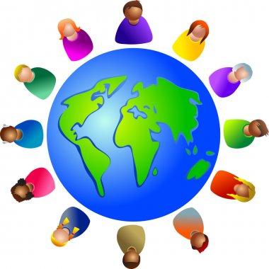 Diverse world around the globe