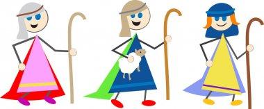 Shepherd kids cartoon