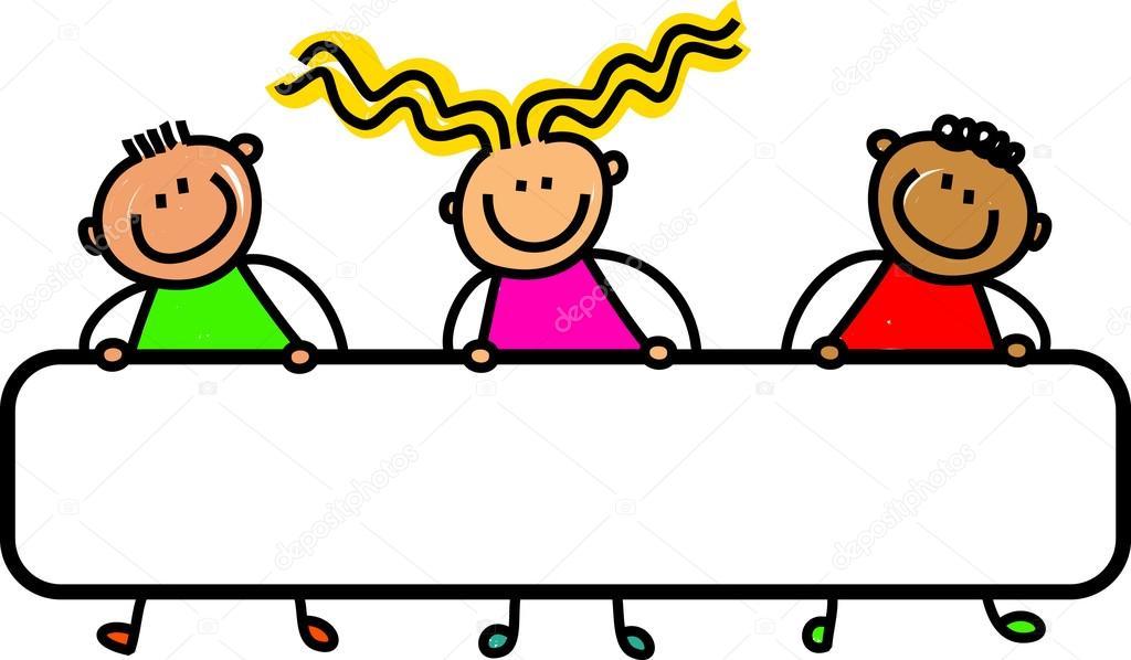 Groupe d 39 enfants heureux et divers image vectorielle prawny 64290363 - Dessin groupe d enfants ...