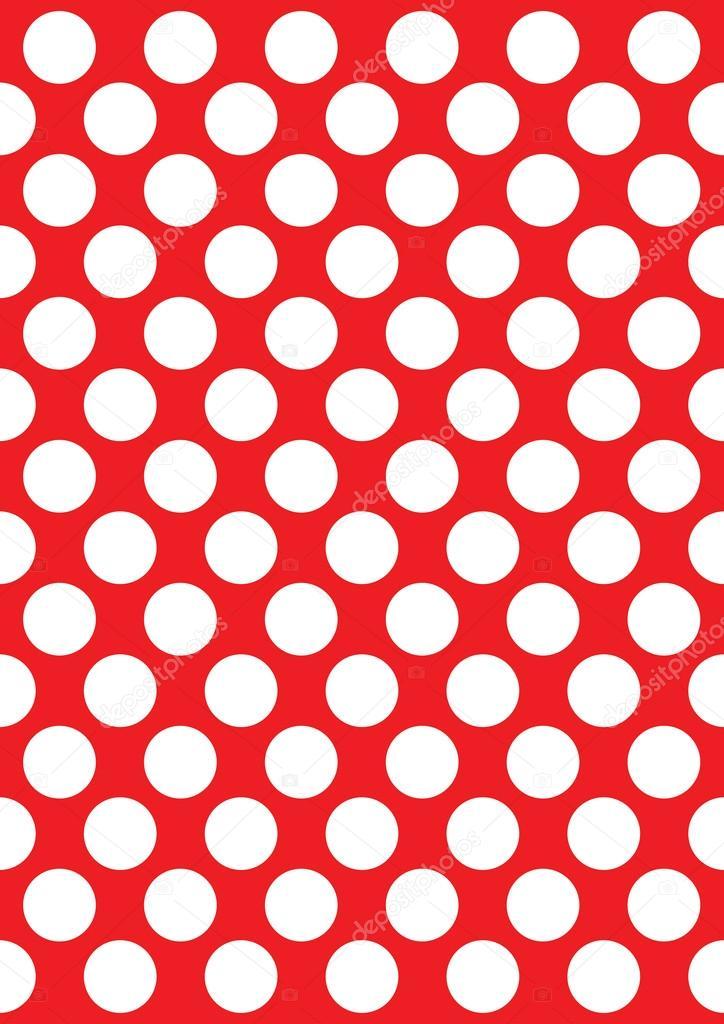 Pois Bianchi Su Un Colore Rosso Vettoriali Stock Prawny 64290481
