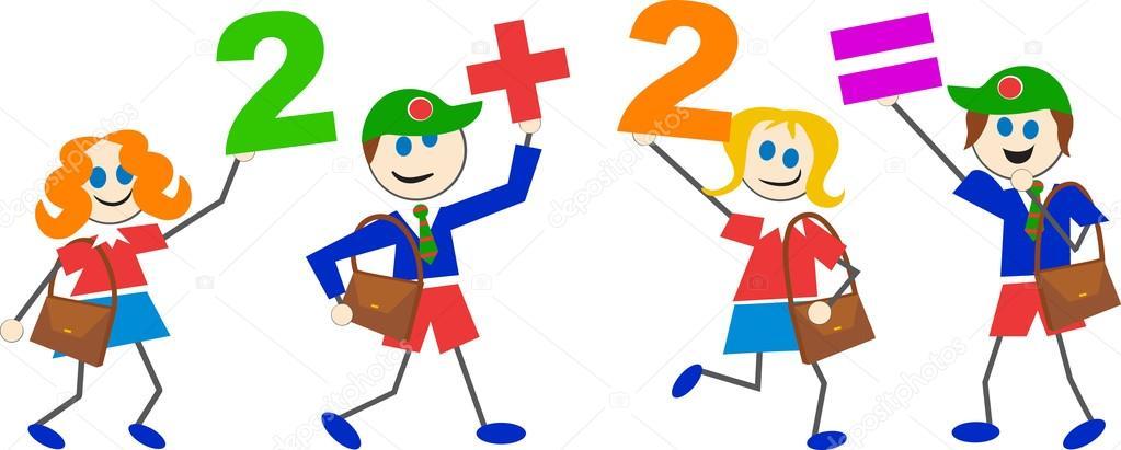Niños Matemáticas Dibujos Animados