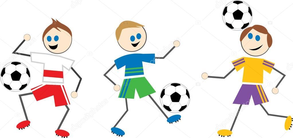 Fussball Kinder Cartoon Stockvektor C Prawny 64292531