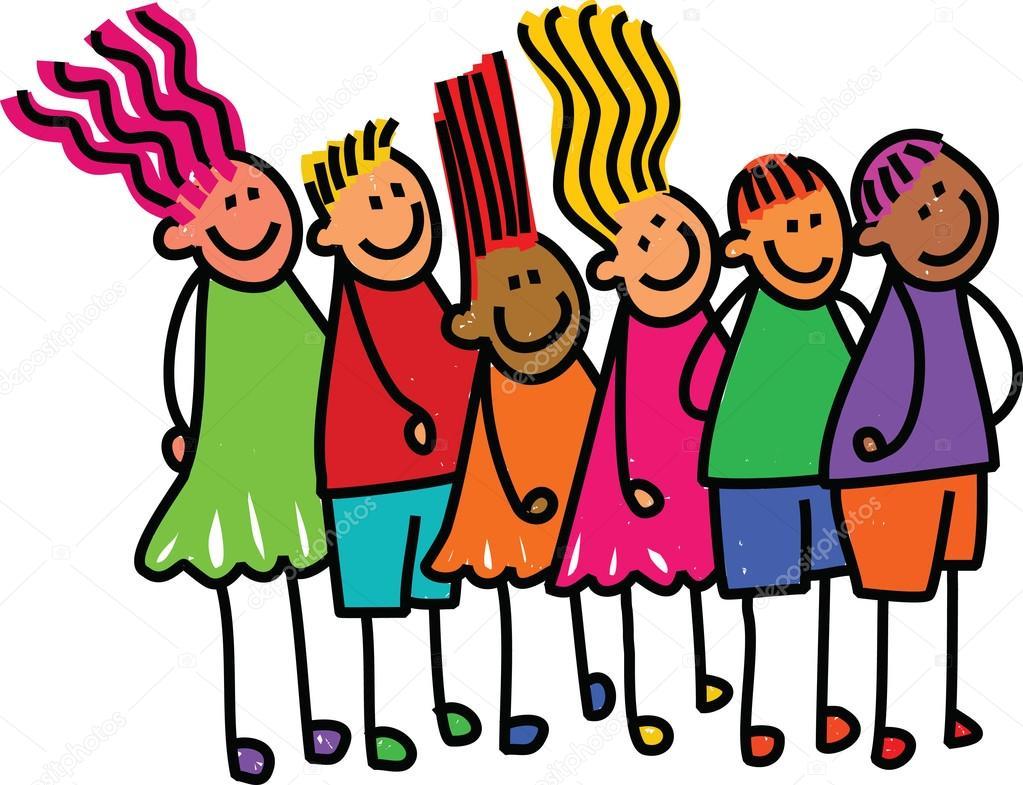Queue Kids Waiting in line — Stock Vector © Prawny #64293151