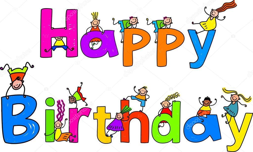 grattis barn Grattis på födelsedagen och barn — Stock Vektor © Prawny #64294623 grattis barn