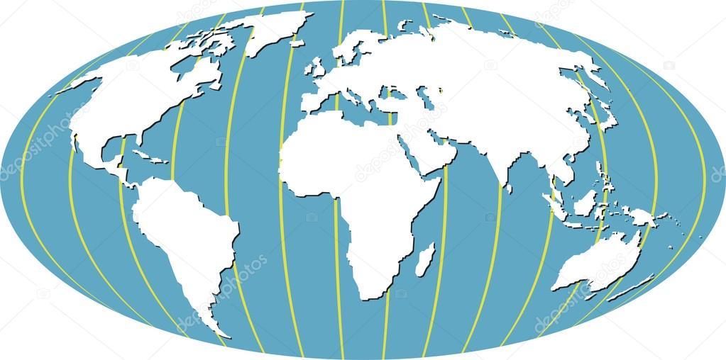 world map cartoon stock vector