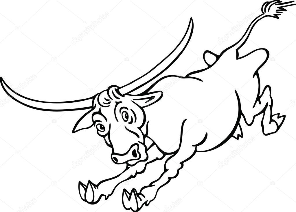 Dibujos: toros de lidia para pintar   Dibujo de un toro salvaje ...