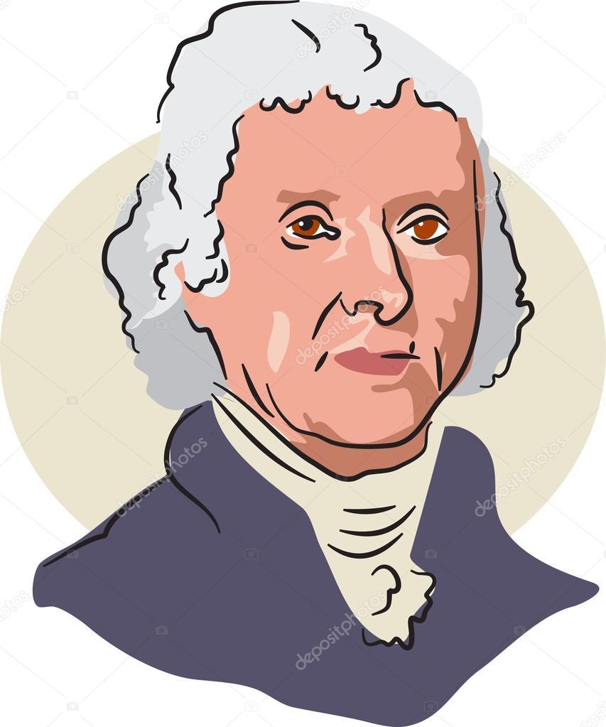 Thomas Nachlik Illustration: Président Américain Thomas Jefferson