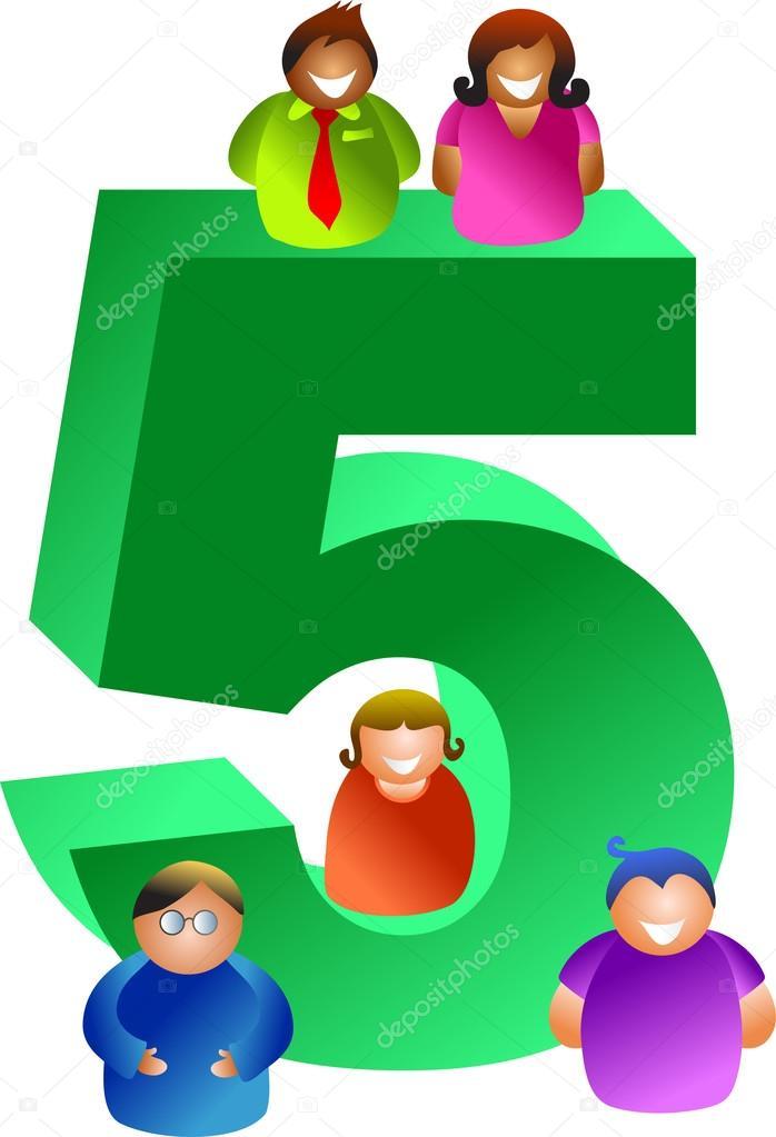 Resultado de imagem para Grupo dos 5 numeros