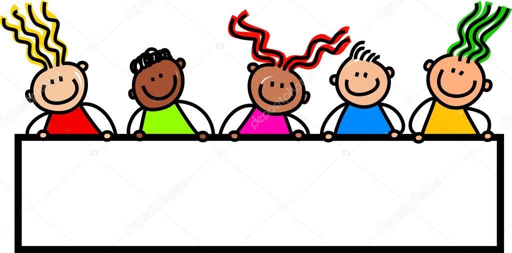 Groupe d 39 enfants heureux et divers image vectorielle prawny 64297249 - Dessin groupe d enfants ...