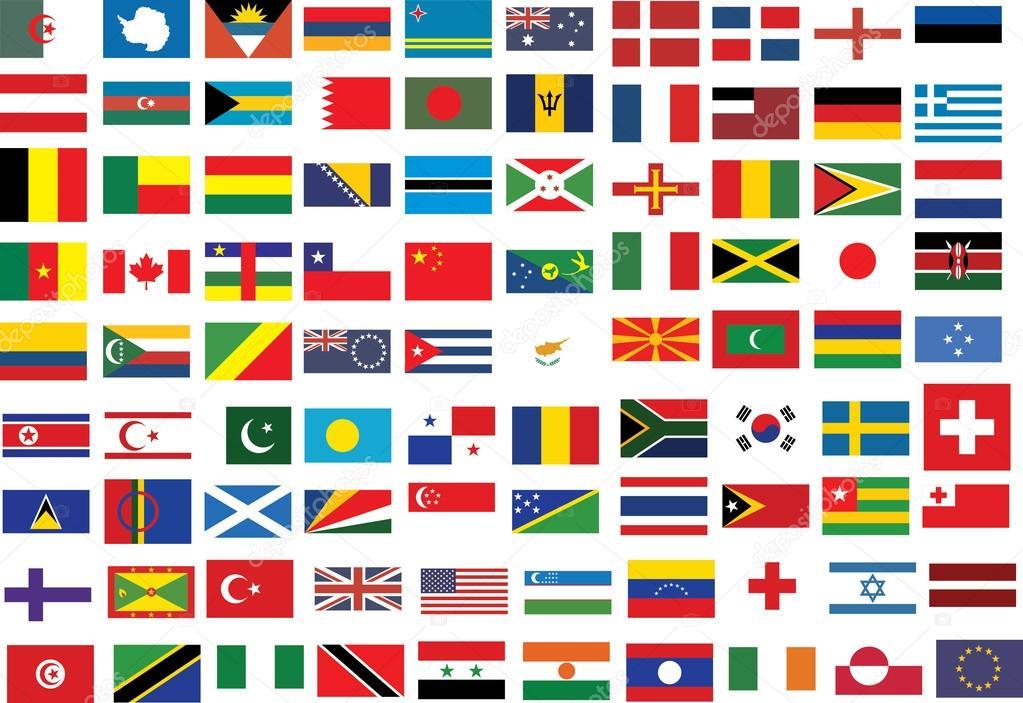 Colección De Banderas De Todo El Mundo