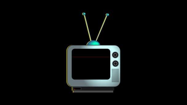 Televíziós jelet ad grafikus animáció