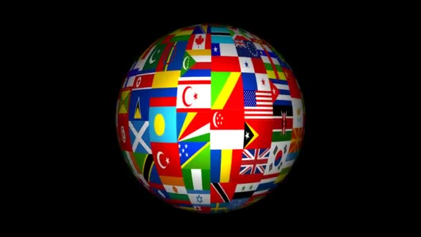 3d World Flag Globe Animation
