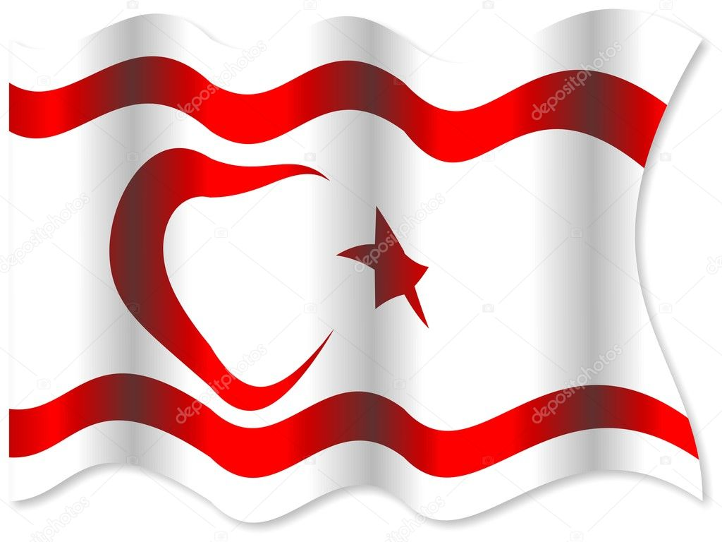 Kuzey Kıbrıs Türk Cumhuriyeti Bayrağı Stok Foto Prawny 65259599