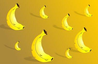 Banana wallpaper background design.