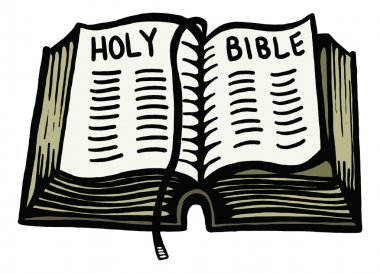 doodle drawing of a open bible.