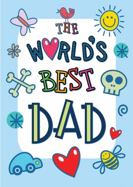 poster with words The Worlds Best Dad