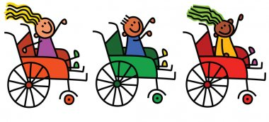 cartoon disabled kids