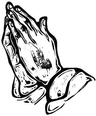 Hand painted praying hands