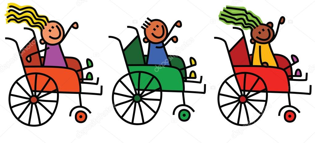 Dibujos Animados De Niños Con Discapacidad
