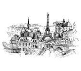 Fotografie Paříž, vektorové ilustrace