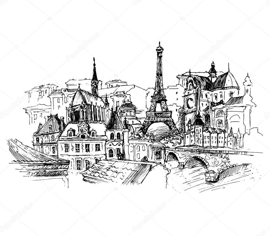 Paris Illustration: Stock Vector © Kolodochka