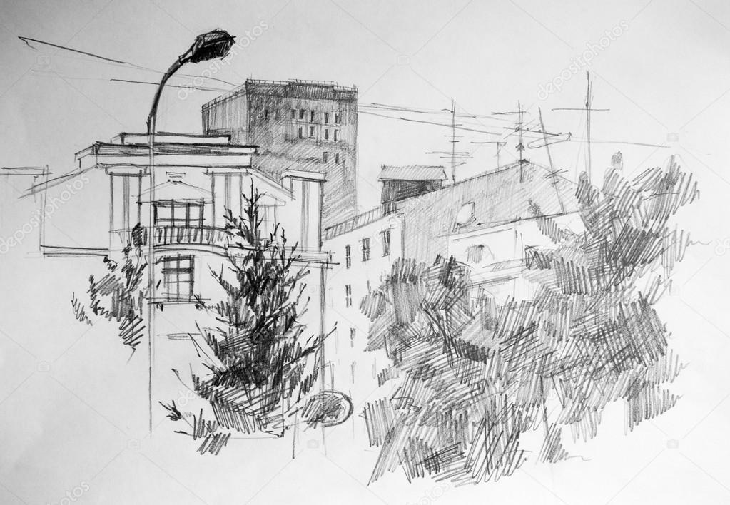 Perspektif Cadde çizim Stok Fotoğraflar Depositphotos