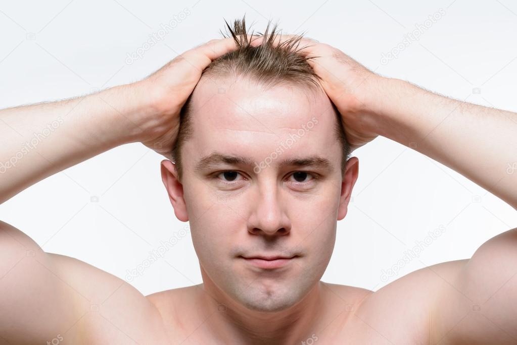 Portrait of naked man — Stock Photo
