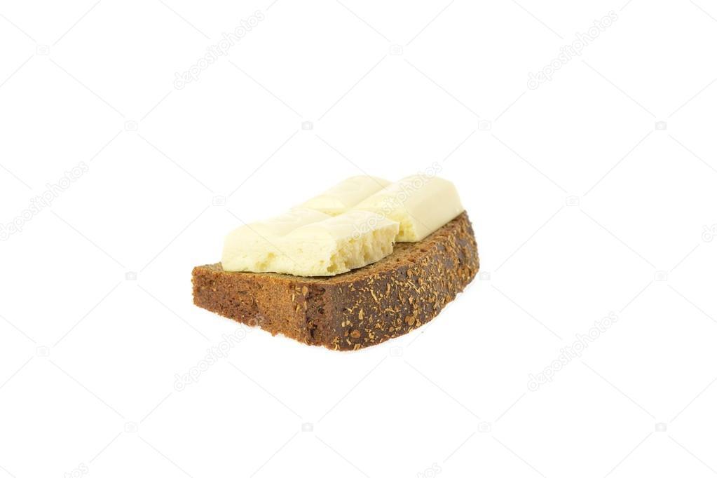 Borodino bread with chocolate