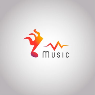 Nice logo music vector ilustration. Radio, record, fm.  Eps 10