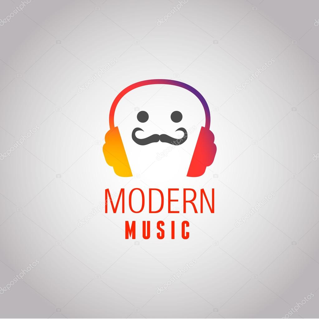 Hipster modern music vector logo, icon, radio. Eps 10 ...