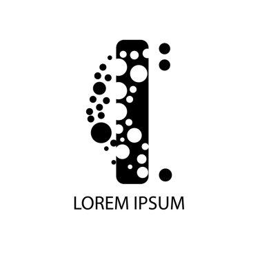 Vector Letter I logo. Alphabet logotype vector design. EPS 10