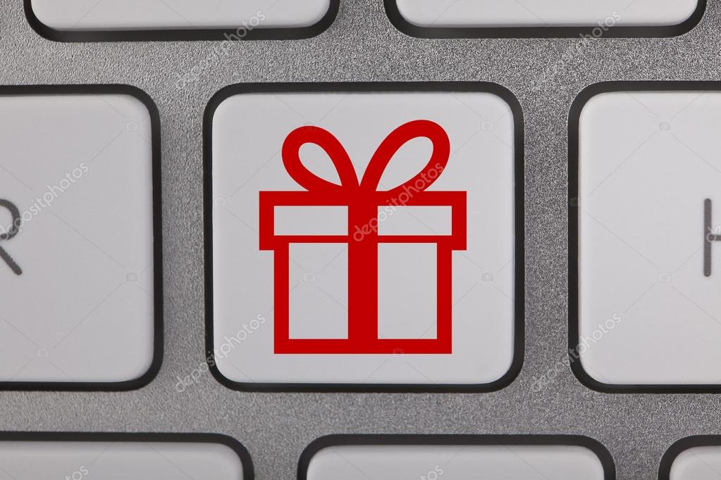 Gift Symbols On Keyboard Stock Photo Turgaygundogdu 64351579