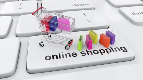 Online shopping and shopping cart order concept with internet and consumer bags