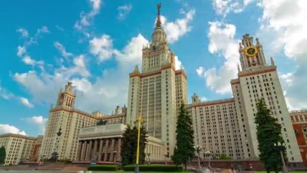 Timelapse pohybu kolem Moskevské státní univerzity