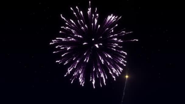 Šest ran ohňostroje v hvězdné oblohy