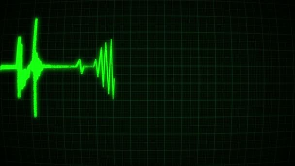 Das Kardiogramm in Form eines grünen Herzens, Schleife