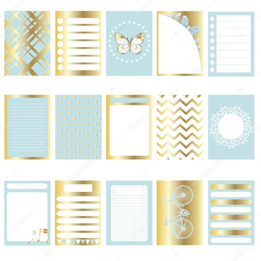 Vector Signs And Symbols For Organized Your Planner Stock Vector