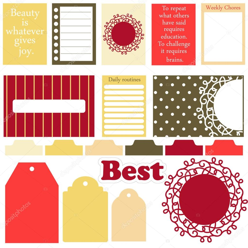 Vector signs and symbols for organized your planner. — Stock Vector ...