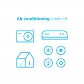 Home Klimaanlage Service-Symbole