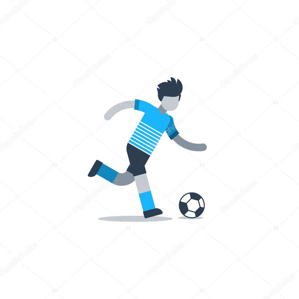 patear pelota de futbol jugador � archivo im225genes