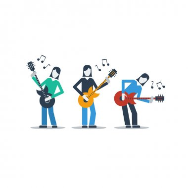 Group of guitarists