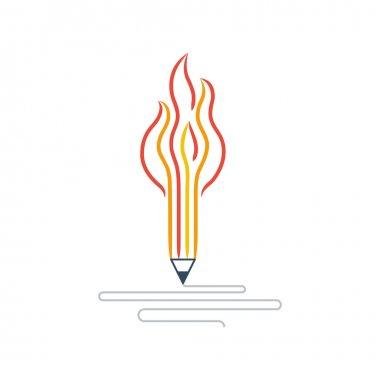 Graphic design studio pen symbol