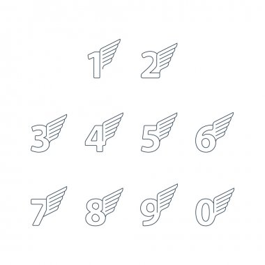Elegant dynamic numbers with wings