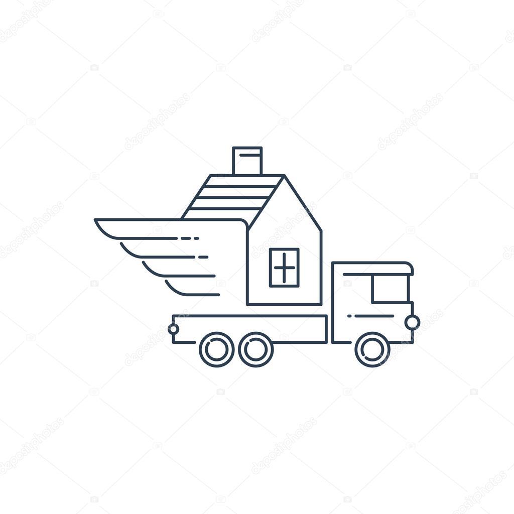 Umzug Haus Service Stockvektor C Stmool 75121155