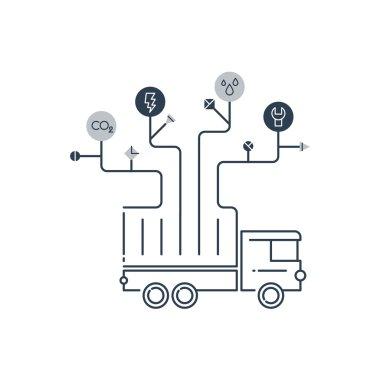 Truck repair and maintenance service.