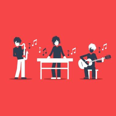 Jazz band performance.